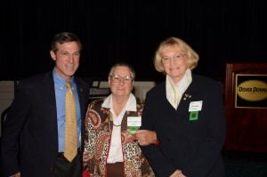 U.S. Rep. John Carney with Laureates Ruth Ann Messick and Jay Hukill