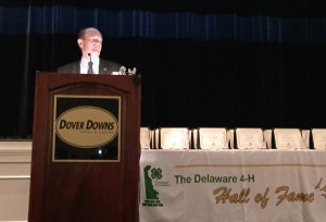 U.S. Sen. Chris Coons told the audience that  those who served through 4-H contribute an essential part in the lives of tens of thousands of youth in Delaware