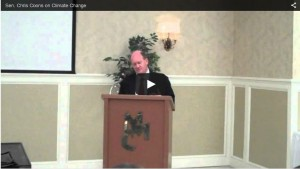 Click to view Sen. Chris Coons comments on climate change at the 2014 Delaware Extension Conference