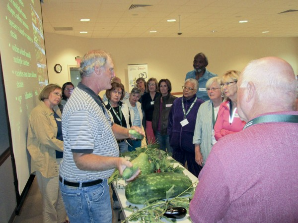 Master Gardeners listening to instructor