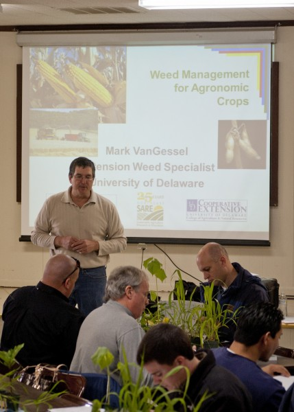 Mark VanGessel, UD Extension Weed Specialist at the 2013 Weed School