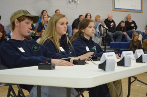 New Horizons 4-H club senior team competing L to R- Chad Dempsey, Peyton Ridgely, Ashley Hurd