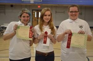 2nd Place Senior Team- Hearts-4-Horses- L to R Hannah Ziccarelli, Lexi Blocksom, Haley Reynolds