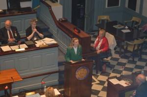 girl at podium speaking