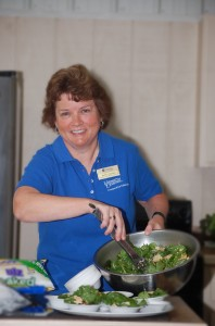 Betsy Morris gave a great food demo in 2013