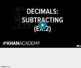 Arithmetic Operations: Subtracting Decimals Example 2