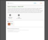 Basic Math (BPCC Open Campus Math 097)