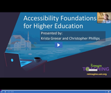 Reimagine Teaching: Accessibility Foundations for Higher Education