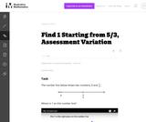 3.NF Find 1 Starting from 5/3, Assessment Variation