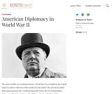 American Diplomacy in World War II