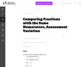 3.NF Comparing Fractions with the Same Numerators, Assessment Variation