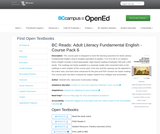 BC Reads: Adult Literacy Fundamental English - Course Pack 6