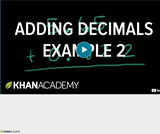 Arithmetic Operations: Adding Decimals Example 2