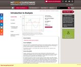 Introduction to Analysis, Fall 2012
