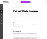 A-REI Pairs of Whole Numbers
