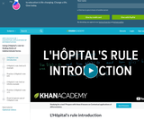 Calculus: Introduction to L'Hopital's Rule