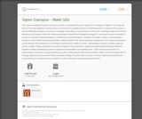 College Algebra (BPCC Open Campus: MATH102)