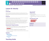 CS Discoveries 2019-2020: Interactive Animations and Games Lesson 3.15: Velocity