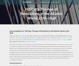 The Age of Revolutions in the Atlantic World, 1776-1848