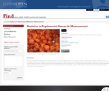 Statistics in Psychosocial Research: Measurement