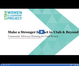 UWLP: Community Advocacy Training for Utah Women