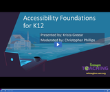 Accessibility Foundations for K-12 Recap