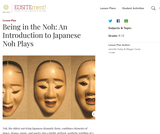 Being in the Noh: An Introduction to Japanese Noh Plays