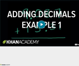 Arithmetic Operations: Adding Decimals Example 1