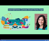 Learn @ Home: Visual Canvas Home Page