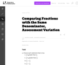 3.NF Comparing Fractions with the Same Denominator, Assessment Variation