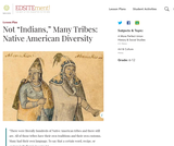 "Not ""Indians,"" Many Tribes: Native American Diversity"