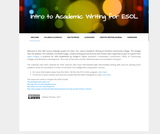 Intro to Academic Writing for ESOL