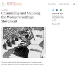 Chronicling and Mapping the Women's Suffrage Movement