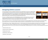 Designing Online Lessons