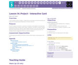 CS Discoveries 2019-2020: Interactive Animations and Games Lesson 3.14: Project - Interactive Card