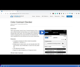 Accessibility Foundations: Checking Color Contrast using the Paciello Group Color Contrast Analyser Recap
