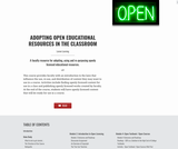 Adopting Open Educational Resources in the Classroom
