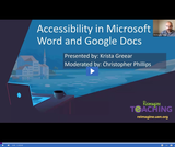 Reimagine Teaching: Accessibility in Microsoft Word and Google Docs