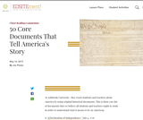50 Core Documents That Tell America's Story
