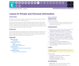 CS Fundamentals 5.8: Private and Personal Information