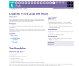 CS Fundamentals 5.13: Nested Loops with Frozen