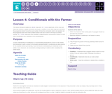 CS Fundamentals 5.4: Conditionals with the Farmer