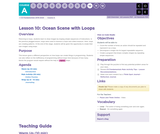 CS Fundamentals 1.10: Ocean Scene with Loops