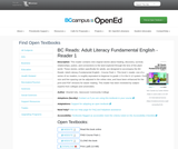 BC Reads: Adult Literacy Fundamental English - Reader 1