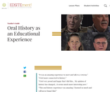 Oral History as an Educational Experience