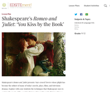 Shakespeare's Romeo and Juliet: 'You Kiss by the Book'