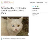 Animating Poetry: Reading Poems about the Natural World