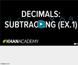 Arithmetic Operations: Subtracting Decimals Example 1
