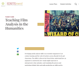 Teaching Film Analysis in the Humanities