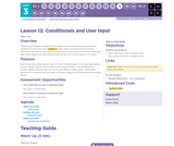 CS Discoveries 2019-2020: Interactive Animations and Games Lesson 3.12: Conditionals and User Input
